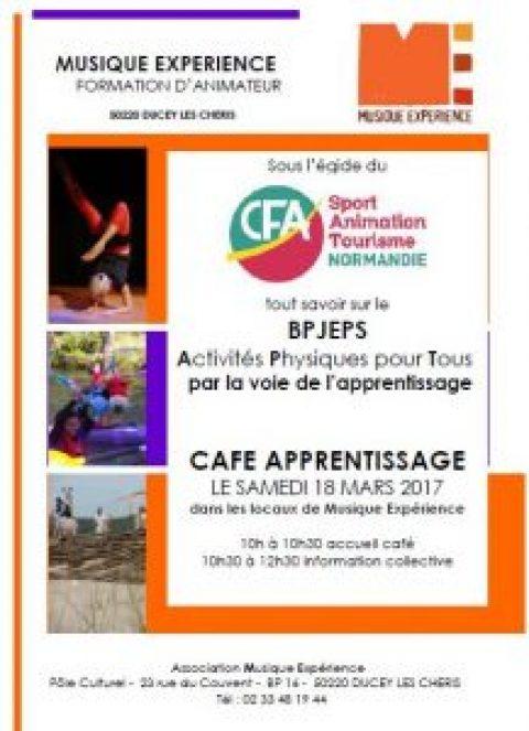 Café Apprentissage le samedi 18 mars 2017 dans les locaux de Musique Expérience