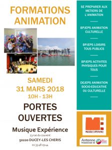 Portes ouvertes formations animation 31 mars 2018 musique exp rience - Animation portes ouvertes ...